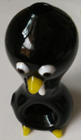 Wholesale Glass Artworks - Promotion Lovely Black Animal Penguin Artwork Glass Hookah Bong Water Smoking Pipe