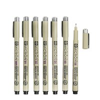 Wholesale Micron Drawing Pens - 7 Pcs Lot Sakura Pigma Micron Needle For Drawing Sketch Cartoon Archival Ink Gel Pen Stationery Animation Art Supplies 6922
