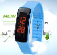 moda renkli lastik spor saati toptan satış-Yeni gelen! 50 adet X Moda Spor LED Saatler Şeker Renk Silikon Kauçuk Dokunmatik Ekran Dijital Saatler