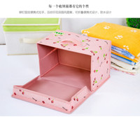 Wholesale Desktop Storage Containers - HOT selling 2016 Home Office desktop Multifunction Folding Makeup Cosmetics Storage Box Container Case Stuff Organizer