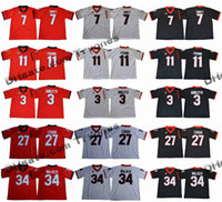ingrosso mens pullover 34-2017 Camicie Georgia Bulldogs College Football Jersey 11 Jake Fromm 7 D'Andre Swift 27 Nick Chubb 34 Herschel Walker 3 Todd Gurley II nuovi Mens