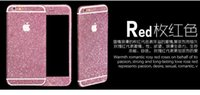 Bling Shinny Full Body Skin Sticker Glitter Diamond anteriore Sides Back Screen Protector Pellicola per iphone 6 6S più 100 pezzi