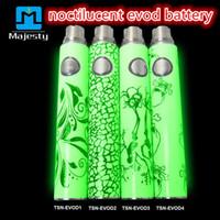 Wholesale Ego Luminous Battery - Electronic Cigarette EVOD Batteries Noctilucent Battery 650mAh 900mAh Luminous New Desgin E-cigarette EGO T with Glow in the Dark