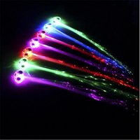 Wholesale New Years Party Supplies - 2017 New Fashion Colorful LED Luminous Braid Fiber Braid For Child Adult Birthday Decor Party Christmas New Years Decorations