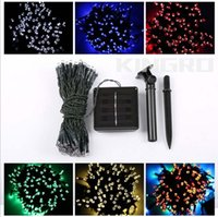 Wholesale Earth Cable - new arrival 100 led light led light cable light string with salor panel and earth plug DHL free