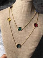 jóia je venda por atacado-Material de latão de qualidade superior paris design colar com diamante decorar camisola colar em 90 cm charme jóias para mulheres e mãe presente je