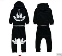 Wholesale 2t Fleece Pants - Children's clothes 2015 brand New autumn tracksuit kids clothing hoodies set children sport suit costumes boys girls sweatshirt+pants fleece