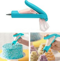 kek kek seti toptan satış-Buzlanma boru Seti Nozullar Çanta Kek Pasta Kremalı Cupcake Dekorasyon Aracı Craft
