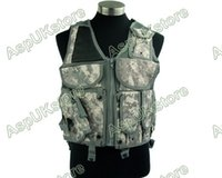 Wholesale Acu Holster - Fall-Airsoft Tactical Combat Hunting Vest w  Holster -ACU free shipping