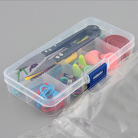Wholesale Basic Tools Kits Wholesale - Portable And Applicative Basic Knitting Tools Accessories Supplies Knitting Tool Kit with Case Knit Kit Lots