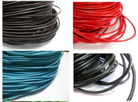 Wholesale 3mm Round Cord - 32.8 feet Round Real Leather Jewelry Cord 3mm