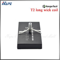 Wholesale T2 Coils Heads - 100% Original Kanger T2 Coil Heads KangerTech CC Cartomizer Coil Unit For T2 Clearomizer 1.5 1.8 2.2 2.5ohm Available