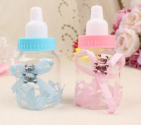 24pcs / lot Baby Bottle Candy Box Rifornimenti del partito Baby biberon Bomboniere e regali Box doccia Baby battesimo decorazione