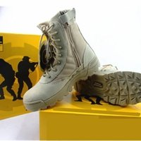 Wholesale American Canvas Shoes - NEW Delta Tactical Boots Military Desert SWAT American Combat Boots Outdoor Shoes Breathable Wearable Boots Hiking EUR size 36-46