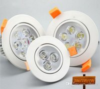 Super brillant 3W / 5w / 7w / 9w / 12w / 15w / 18w led Spot de lumière de plafond AC85-265V Epistar led lamp beads led down lights accueil
