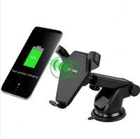 док-станция для держателя для iphone оптовых-Автомобильный кронштейн вентиляционное отверстие беспроводное зарядное устройство для iPhone X Samsung S7 S8 Примечание 8 адаптер 9 в / 1.67 A быстрый держатель заряда