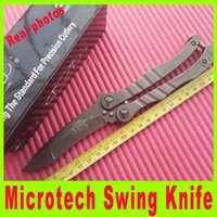 Wholesale Wholesale Tactical Stocks - In stock Microtech knife swing knife Outdoor survival camping hiking knife tactical Survival tactical utility knives 391X