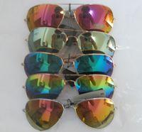 Wholesale Wholesale Polarized Sunglass Lenses - 10pcs AAA+ quality Unisex Color film Lens men's sunglasses Mirror sunglasses Woman's glasses Color film sunglass Without box