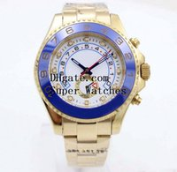 Wholesale master digital color - Original Box Papers Sapphire Wristwatches Yacht AAA Master 44mm Cerachrom WHITE Dial 116688 Automatic Movement Watch Watches No Chronograph