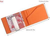 Wholesale South Korea Mens - 2015 South Korea Business Magic Money Clip Magic Wallet Bags Gentleman Leather Purse Mens Wallet Blue Orange Green Purple Coffee SV028509