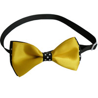Armi store Handmade Simple Yellow Ribbon Dog Collar Tie Bow 31006 Pet Grooming Großhandel Werkzeuge.