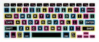 Wholesale-Silikon-Regenbogen-Tastatur-Abdeckung Tastatur-Haut-Schutz für Apple Mac Macbook Pro 13 15 17 Air 13 Retina 13 US-Layout
