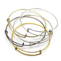 Wholesale Spring Steel Wire Wholesalers - 2015 Hot Sell DIY Jewelry Alex and Ani Wire Wrap Bangle Silver Gold Color Metal Bracelets Expandable Alex&Ani Bangles