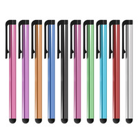 Wholesale 1000PCS LOT Universal Capacitive Stylus Pen for Iphone5 5S 6 6s 7 7plus Touch Pen for Cell Phone For Tablet Different Colors