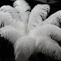 "Wholesale large ostrich feathers wholesale - Large Ostrich Feathers 18-20"" 45-50cm Table Centerpieces Wedding Decorations Table Ostrich Feathers Centerpiece Event Decoration Many Size"