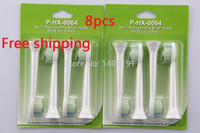 Wholesale Philips Toothbrush Diamond - Free Shipping-8 x electric toothbrush heads for Philips Sonicare DIAMOND CLEAN HX-6064