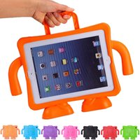 Wholesale Ipad Handheld Case - Cute Kids Shock Proof EVA Foam Handle Holder Stand Case Cover For iPad 2 3 4 Multifunction Handheld Protective Cases