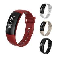 Wholesale golden speed - A69 Bluetooth Smart Wristbands Automatically Heart Rate Blood Pressure Monitor Pedometer Speed Measurement Tracker Bracelet Smart Watch