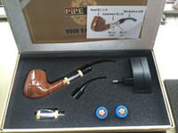 Wholesale Tobacco Series - 2017 classical E PIPE Kit 618 Electronic Cigarette PIPE Set Series Old-fashioned Tobacco E Cigarette Smoking PIPE with gift box