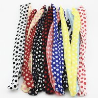 Atacado 20pcs / lot Rabbit Bunny Ear Big Polka Dots Hair Band Chiffon Wire Headband Hair Scarf MF48