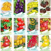 Wholesale Red Pear Fruit - 12 KINDS 290 TOMATO SEEDS Cherokee Purple Black Red Yellow Green Cherry Peach Pear Tomato Non-GMO Organic Food
