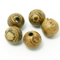 Wholesale 8mm Round Wood Beads - High Quality Wooden Beads 4mm 6mm 8mm Round Shape Natural Wenge Wood Loose Spacer Beads for Bracelet