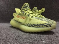 Wholesale Wholesale For Sports Shoes - Originals Boost 350 V2 Kanye West Running Sneakers Zebras Zebra Fluorescent Green Frozen Yellow Blue Tint Sports Shoes for men