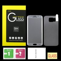 Wholesale galaxy s5 full online – For Samsung Galaxy S6 Edge Full Body Colorful Tempered Glass Screen Protector Protective film with retail box Front Back free dhl