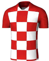 Wholesale Football Nation - Thai Quality 2018 CroATiaes World Cup 10 MODRIC 4 PERISIC 7 RAKITIC 17 MANDZUKIC 16 KALINIC 2019 Soccer jerseys 18 19 Nation Football Shirts