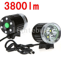 Wholesale Cree X - wholesale 4000 Lumen 3 x CREE XML T6 LED Bicycle Cycle Bike Light Headlight Headlamp Head Torch 4 Modes led Head lamp with battery charger