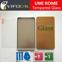 umi cep telefonları toptan satış-Toptan-UMI ROMA Temperli Cam 100% UMI ROME X Cep Telefonu Için Yüksek Kalite Ekran Koruyucu Film + Ücretsiz Kargo