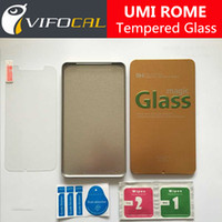 umi teléfonos móviles al por mayor-Venta al por mayor-UMI ROME vidrio templado 100% película de protector de pantalla de alta calidad para UMI ROME X teléfono móvil + envío gratuito