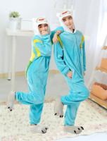 Wholesale Adventure Time Costume Adult - Wholesale-Adventure Time With Finn And Jake Season 2 Adult onesie costume Women Men animal pajamas cosplay pyjama Jumpsuit party halloween