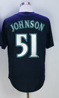 Arizona 51 Randy Johnson Jersey Cooperstown Moda Randy Johnson Camisetas de béisbol Diamondbacks Vintage Rojo Negro Blanco Gris