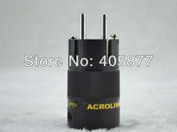 Wholesale Power Plugs Rhodium - Acrolink FP-03Eu Rhodium plated EU Male plug hifi schuko Power connectors Adapter
