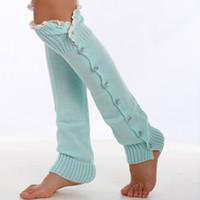 Wholesale Colored Socks For Women - Leg Warmers for Women Colored Buttons Boot Socks Vertical Patterns Leg Warmer Gaiters for Women