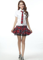 Wholesale cosplay sexy school uniform - 2015 Women Fashion Korea & Janpen Students Uniform Sexy White Costumes Cosplay School Suit Campus Wear Hot Sale student cosplay 190020