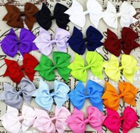 "Wholesale Cheap Hair Bows Free Shipping - Wholesale Cheap Low Price Hair Bows Big 3.5"" Boutique Girl Baby Alligator Clip Large Grosgrain Ribbon Bows 50 PCS Free Shipping"