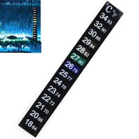 Wholesale Tank Thermometer - Brewcraft Strip Thermometer Carboy Fermenter Homebrew Beer Tank Temperature Sticker Adhesive Sticky Scale Aquarium Fish 500pcs