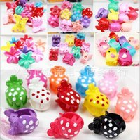 Barrettes black box barrettes - 36pcs box Korean Children Hair Claws Hairpin Cute Baby Jewelry Mickey Rabbit Tiaras Gripper For Baby Girls Gifts Whole Box